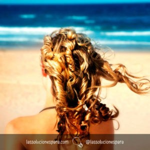 Cabello Hermoso en la playa