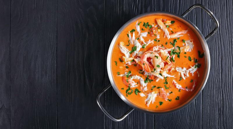 Bisque de cangrejo cremoso