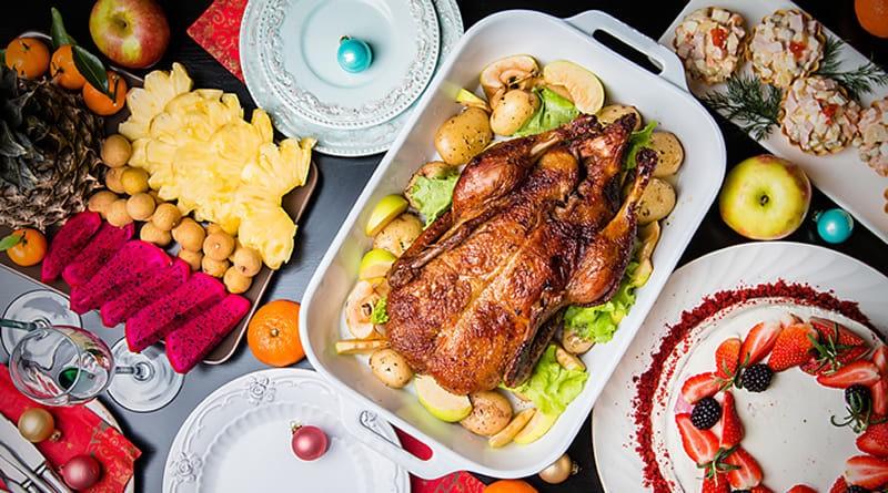 Pollo relleno con Glaseado de manzana